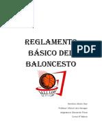 Reglamento Básico de Baloncesto Alizon Diaz