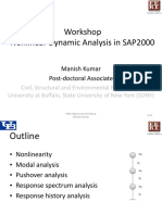 SAP2000 Nonlinear Dynamic Analysis
