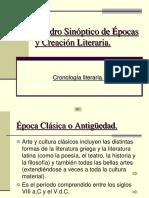 Cuadro Sinóptico de Épocas y Creaciones Literarias