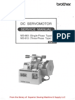 Brother MD-803, MD-813 DC Servomotor Instruction Manual