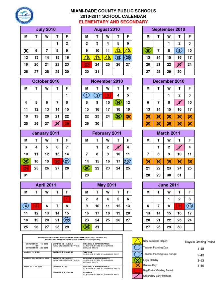 calendario escolar miami dade 2014