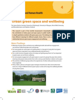 GreenHealth InformationNote4 Urban Green Space and Wellbeing