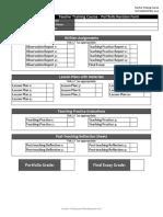 TTC Portfolio Revision Form & Criteria