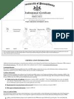 pa certification