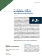 Fisiologia Del Equilibrio de Los Modelos Geneticos a Los Enfoques Cognitivistas