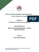 Nota Técnica I-1 Resolución Método Gráfico