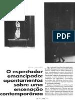 O Espectador Emancipado - Apontamentos Sobre Uma Encenação Contemporânea - Sílvia Fernandes