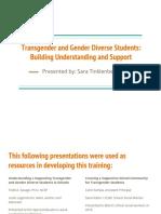 gender diversity presentation