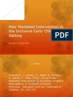 peer mediated intervention in the inclusive early childhood