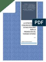 La Estrategia de Comunicación del Estado Peruano para la Promoción del Turismo Interno