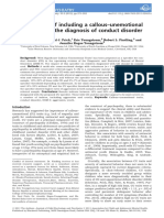 The Effects of Including a Callous Unemotional Specifier for the Diagnosis of Conduct Disorder