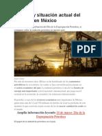 historia del petroleo en mexico y ley reglamentaria