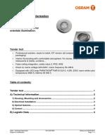 Technical Datasheet Kit Led Pro