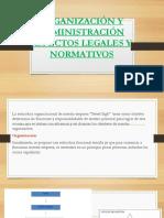 ORGANIZACIÓN Y ADMINISTRACIÓN ASPECTOS LEGALES Y NORMATIVOS.pptx