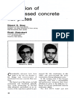 Deflection of Prestressed Concrete Plates
