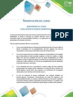 Presentación Del Curso_Evaluación de Riesgos Ambientales