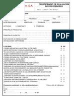 0601A1 2 Cuestionario de Evaluación de Proveedores