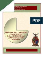 Directrices y Cartas de Competencias