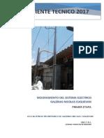 Mejoramiento Del Sistema Electrico_galerias Cuglievan 2017