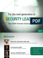 Cissp Domain Refresh Webinar Slides