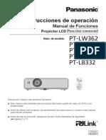 Proyector Panasonic Lb412 Manual de Funciones Español