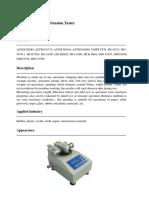 Abrasion Test Machine for Plastics