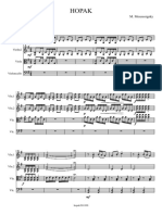Moussorgsky M. - HOPAK - Quartet - Parts Score