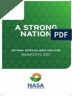 KENYA Nasa Coalition Manifesto