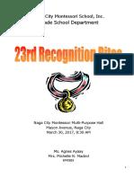 2017 Recognition Rites Script