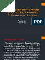 Computerized Record Keeping System of Kapilya San Isidro (Guruyan Juban Sor.) (2)