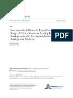 Fundamentals of Mountain Resort Base Village Design- A Critical R