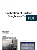 Calibration of Surface Roughness Tester