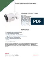 Features of Dahua HAC-HFW1200SP-0360B HDCVI IR-Bullet Camera
