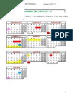 Calendario Escolar 17-18