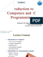 Lecture 1-Introduction to Computers and C Programming