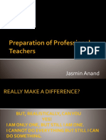 Teachers Preperation for teaching MSc students