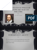 the influence shakespeare had on theatre