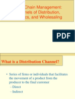 Value Chain Distribution Logistics and Whole Saling
