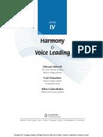 Harmony and Voice Leading