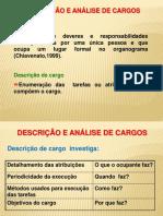Aula 21 - Descrição e Análise de cargos