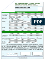 New Agent Application Form Version 2.2