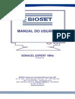 Manual Ultrassom Bioset Sonacel Expert 1 MHz