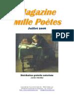Magazine Mille Poètes - Juillet 2008