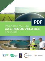 Panorama Du Gaz Renouvelable 2016