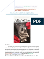 The Defence Mechanisms and the Core Issues of Dee in  Alice Walker's Everyday Use