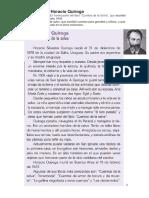 Conociendo a Horacio Quiroga Introduccion Al Proyecto