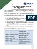 Evaluacin de Competencias Acadmicas 2015