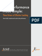 EcSell - Sales Performance Made Simple - Three Drivers of Effective Coaching