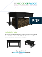 Knock-Off Wood Lucille Coffee Table