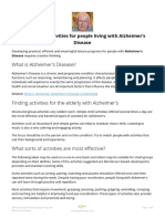 20 Practical Activities for People Living With Alzheimer's Disease